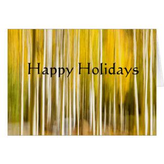 Abstract aspens, happy holidays card