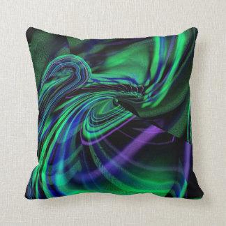 Abstract Aurora Borealis Throw Pillow