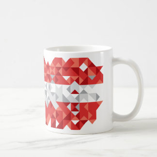 Abstract Austria Flag, Austrian Colors Mug