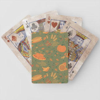 Abstract Autum Harvest Pattern Bicycle Playing Cards