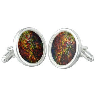Abstract Autumn Cuff Links