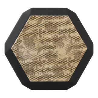 Abstract Autumn/Fall Flower Patterns Black Bluetooth Speaker