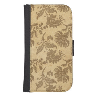 Abstract Autumn/Fall Flower Patterns Samsung S4 Wallet Case