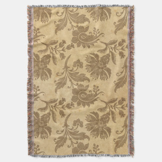 Abstract Autumn/Fall Flower Patterns Throw Blanket