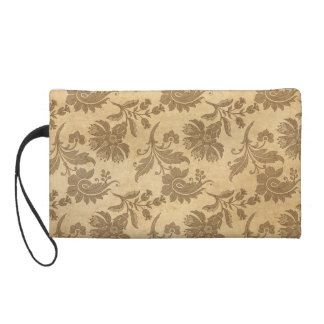 Abstract Autumn/Fall Flower Patterns Wristlet