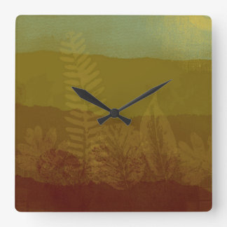Abstract Autumn Landscape Square Wall Clock