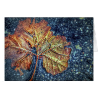 Abstract Autumn Leaf Note Card