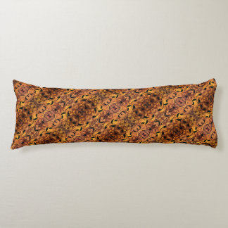 Abstract Autumn Leaf Silhouette Pattern Body Cushion