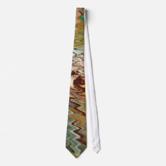 Abstract Autumn Leaves tie
