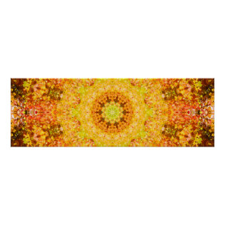 Abstract Autumn Mandala Art Poster