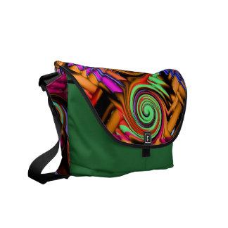 abstract b33 messenger bag