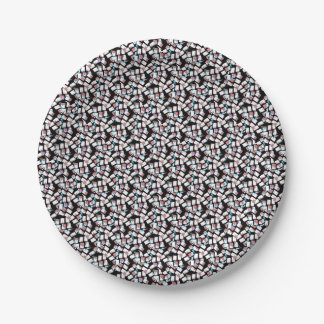 abstract background 7 inch paper plate