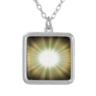 abstract-background #9 silver plated necklace