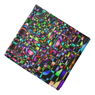 Abstract Background Colored Circle Grid Bandana