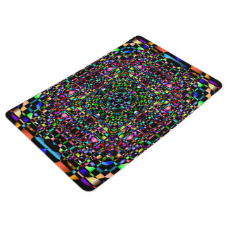 Abstract Background Colored Circle Grid . Floor Mat