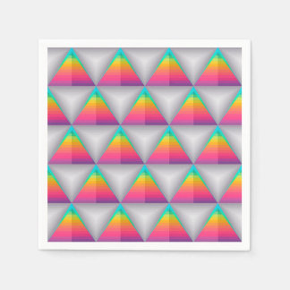 Abstract Background Colorful Diamond Shape Disposable Serviette