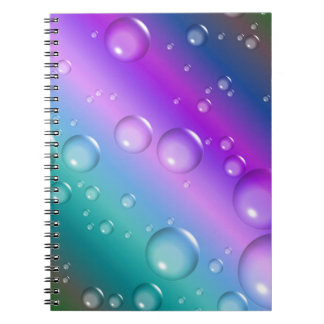 Abstract Background Gradient Spiral Notebook