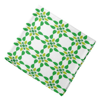 Abstract Background Green Leaf Design Bandana