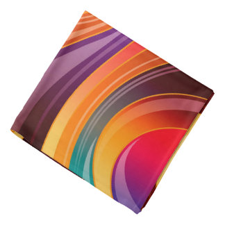 Abstract Background Multi Color Whirl Bandana