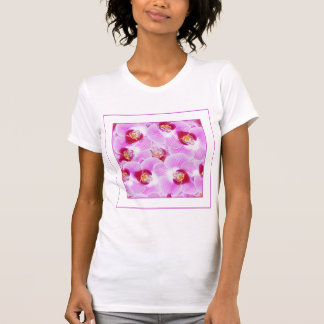 Abstract Background of an Orchid Blossom Photograp Tank Tops