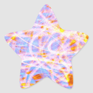 Abstract background star sticker