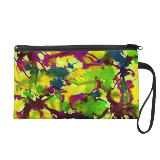 Abstract Wristlet Purse