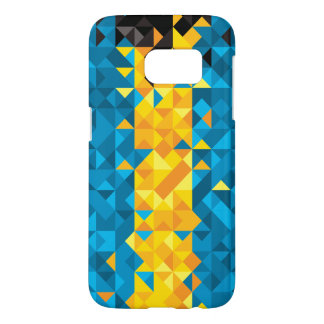 Abstract Bahamas Flag, Bahamian Colors, Phone Case