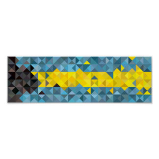 Abstract Bahamas Flag, Bahamian Colors Poster