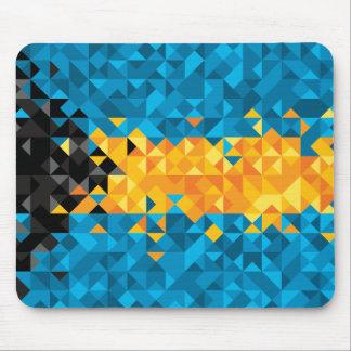 Abstract Bahamas Flag, Bahamian Mouse Pad