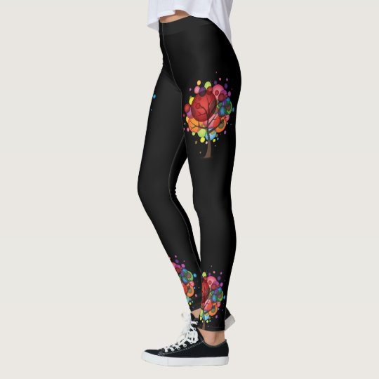 Abstract Balloon Tree Leggings