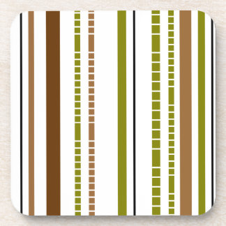 Abstract Bamboo Stripe Design Coasters