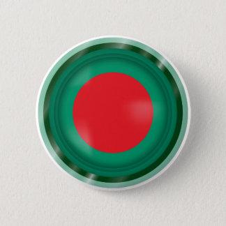 Abstract Bangladesh Flag, Bangladech Colors Button