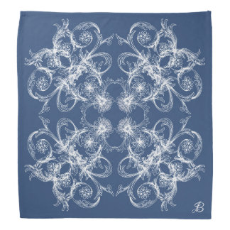 Abstract baroque style ornament/texture. monogram. bandana