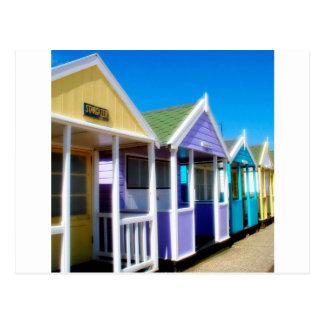Abstract Beach Huts Postcard