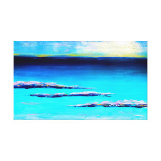 abstract beach painting canvas print