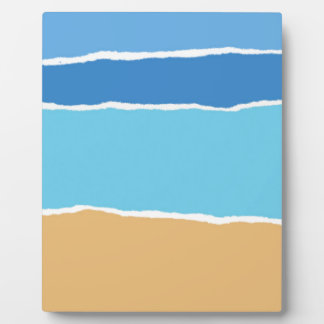 Abstract beach, sea and sky display plaques