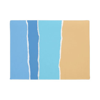 Abstract beach, sea and sky doormat