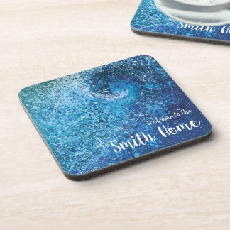 Abstract Beach Wave Fine Art Painting Coaster