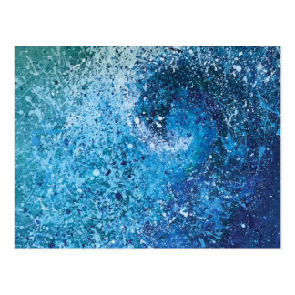 Abstract Beach Wave Fine Art Painting Postcard