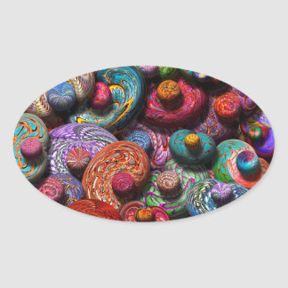 Abstract - Beans Oval Sticker
