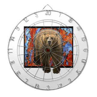 Abstract Bear Dartboard