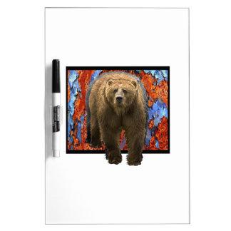 Abstract Bear Dry Erase Board