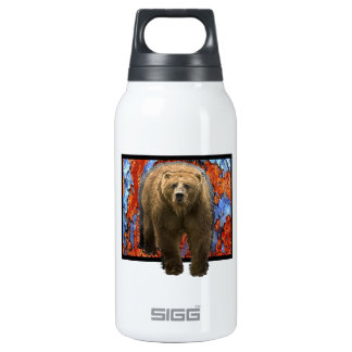 Abstract Bear Insulated Water Bottle
