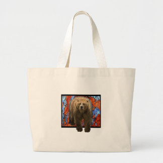 Abstract Bear Large Tote Bag