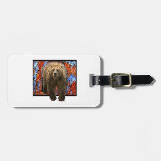 Abstract Bear Luggage Tag