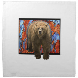 Abstract Bear Napkin