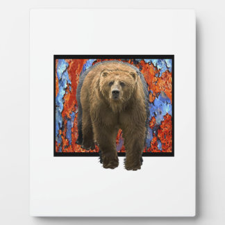 Abstract Bear Photo Plaque