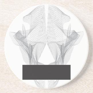 Abstract Bear Skull Coaster