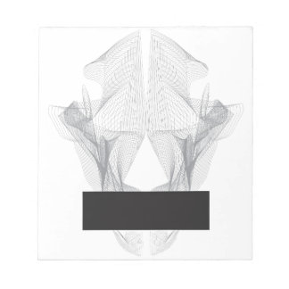 Abstract Bear Skull Notepad