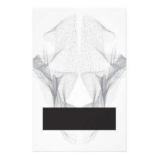 Abstract Bear Skull Stationery